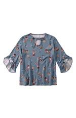 Blusa Estampa Floral Digital Malwee Azul Claro - M