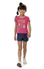 Blusa Estampa Relevo Menina Malwee Kids Rosa - 8