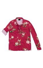 Blusa Estampada Lurex Enfim Rosa Escuro - GG