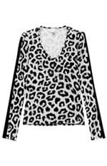 Blusa Estampada Malwee Cinza - G