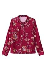 Blusa Estampada Malwee Rosa Escuro - G