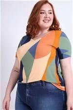 Blusa Estampada Plus Size Amarelo P