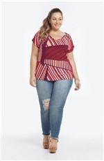 Blusa Estampada Viscose Conforto Vermelho - G