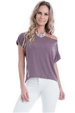 Blusa Feminina Ampla com Detalhe de Renda e Recortes BL3150 - Kam Bess