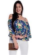 Blusa Feminina Ciganinha de Alcinha Floral BL 3386 - Kam Bess