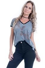 Blusa Feminina com Frente em Renda Crochet BL3265 - Kam Bess