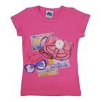 Blusa Feminina Infantil Manga Curta Pink-8