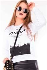 Blusa Feminina Moletinho com Estampa ML0668 - Kam Bess