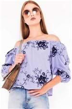 Blusa Feminina Ombro a Ombro Listrada BL3777 - Kam Bess