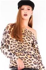 Blusa Feminina Ombro Caído Animal Print ML0423 - Kam Bess