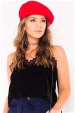 Blusa Feminina Velvet de Alcinha com Guipir BL3700 - Kam Bess