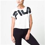 BLUSA FILA HONEY 2 FEMININA - Branco/Preto - Compre Agora | Radan Esportes