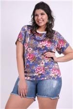 Blusa Floral Plus Size Off White P