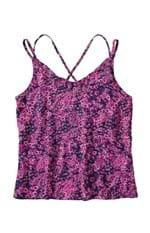 Blusa Floral Tiras Transpassadas Malwee Violeta - G