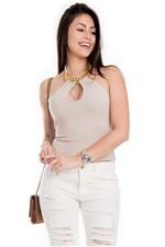 Blusa Frente Única com Detalhe BL3306 - Kam Bess
