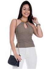 Blusa Frente Única de Brilho BL3289 - Kam Bess
