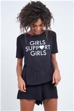 Blusa Girls Support Girls Preto - M