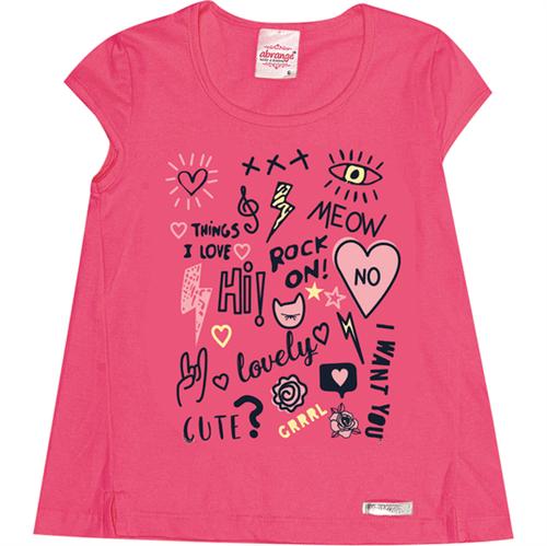 Blusa Infantil Abrange Lettering Vermelho 04