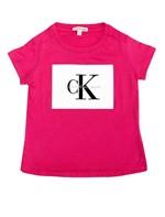 Blusa Infantil Calvin Klein Jeans Estampa Frente Rosa Escuro - 8