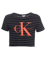Blusa Infantil Calvin Klein Jeans Listrada Logo Calvin Klein Jeans Mescla - 4