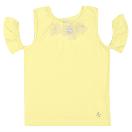 Blusa Infantil Cata-Vento Flores Amarelo 04