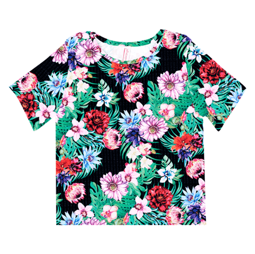 Blusa Juvenil Abrange Way Tropical Preto 12