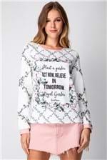 Blusa Lança Perfume de Moletom Mullet Marion Davies - Off White