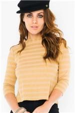 Blusa Listrada Decote Reto BL3557 - Kam Bess