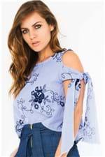 Blusa Listrada Ombro a Mostra BL3755 - Kam Bess