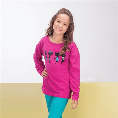 Blusa M/l Raposinhas Fashion Uva/14
