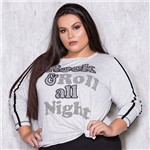 Blusa Manga Longa Rock & Roll Plus Size G