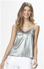 Blusa Metalizada Malwee Prata - G