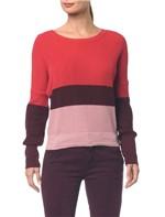Blusa Ml em Tricot Tres Cores - Vermelho - PP