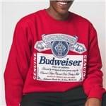 Blusa Moletom Budweiser Tam - P