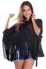 Blusa Morcego com Franjas BL2234 - P