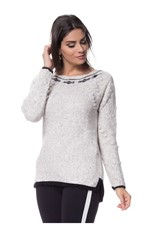 Blusa Mousse Tricot Angora Natural
