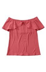 Blusa Ombro a Ombro Canelada Malwee Rosa Claro - G