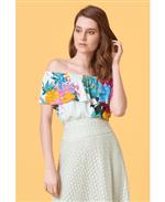 Blusa Ombro a Ombro Paraíso Floral