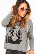 Blusa Ombro Caido com Estampa BL2961 - Kam Bess