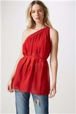 Blusa Ombro só Vermelho Telha Vermelho - 42