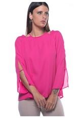 Blusa Ombro Vazado-pink - Pp