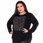 Blusa Plus Size Manga Longa Unleash Your Best