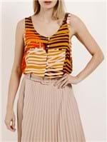 Blusa Regata Feminina Autentique Amarelo/laranja
