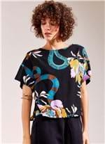 Blusa T-Shirt Nó Estampa Serpente G