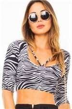 Blusa Top Cropped com Stripes BL2492 - Kam Bess