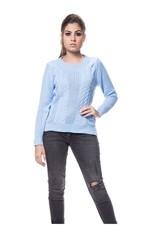 Blusa Tricot Fang com Trança - Azul Azul