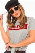 Blusa Tshirt Feminina Lettering Amarração BL4136 - Kam Bess