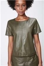 Blusa Verde Resinada Feminina