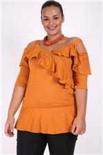 Blusa Viscolycra de Alça Plus Size Laranja G