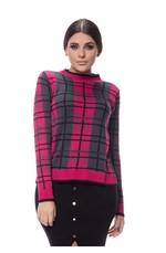 Blusa Xadrez Tricot - Pink PINK